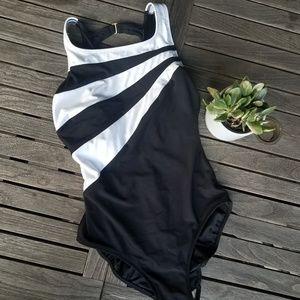 Longitude one piece swimsuit black size 12 tall